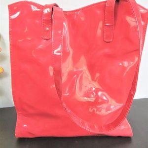 Nina Ricci Hot Pink Vinyl Handled Tote
